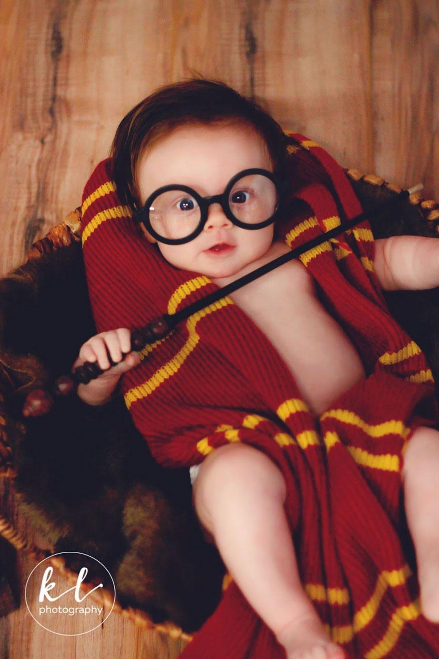 Bebê ganha incrível ensaio fotográfico.